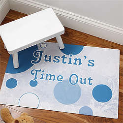 Boy's Personalized Time Out Floor Mat