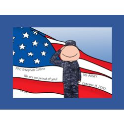 Personalized Military Cartoon - All Branches