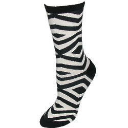 Geometric Zebra Stripe Trouser Socks