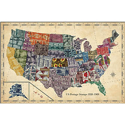 United States Stamp Map