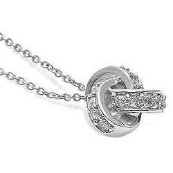 Sterling Silver Cubic Zirconia Accent Love Knot Pendant