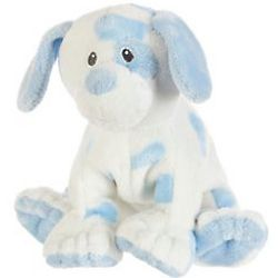 White and Blue Baby Puppy Stuffed Animal