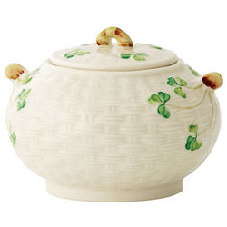 Belleek Shamrock Sugar Bowl