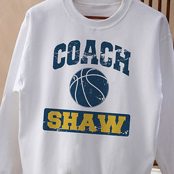 Personalized Sports Coach Sweatshirt