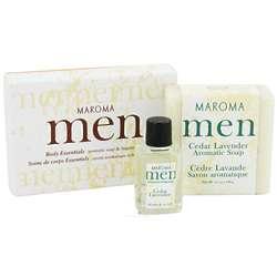Men's Cedar Lavender Soap and Fragrance Oil Gift Set