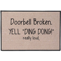 Yell Ding Dong! Doormat