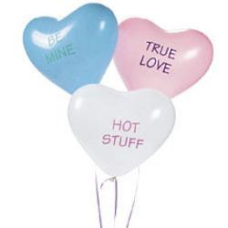 Latex Conversation Heart Balloons