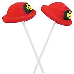 Firefighter Hat Suckers 12 Pack