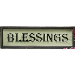 Wood Framed Blessings Sign