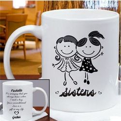 Personalized Sister's Ceramic Mug