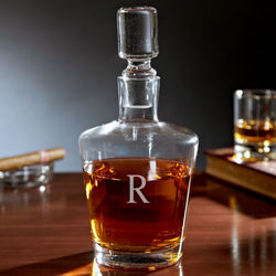 Bryant Blown Glass Personalized Liquor Decanter