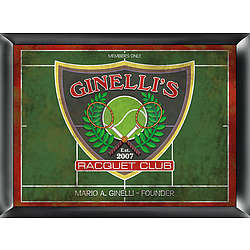 Personalized Racquet Club Pub Sign