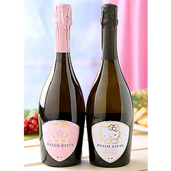Hello Kitty Sparkling Rose & Spumante Italian Wine Duet