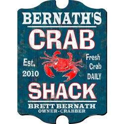 Vintage Personalized Crab Shack Pub Sign