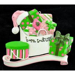 Born to Shop Personalized Ornament
