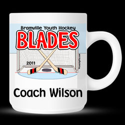 Personalized Ice Hockey Mug