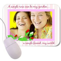 Best Friends Rose Garden Mouse Pad