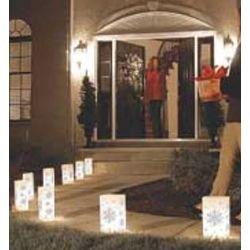Snowflake Luminarias Garden and Path Lights