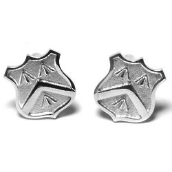 Sterling Silver Family Crest Cuff Links