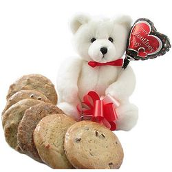 Valentine's Day Bear with Gourmet Cookies