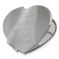 Soul Mate and Best Friend Heart Compact Mirror