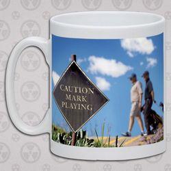 Personalized Caution Golf Mug
