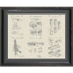M-16 Military Rifle Framed Patent Art Print