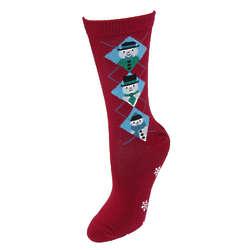 Argyle Snowman Trouser Socks