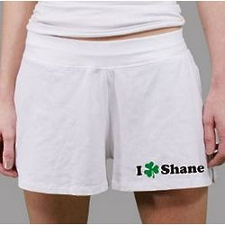 I Love You Women's Personalized St. Patrick's Day Shorts