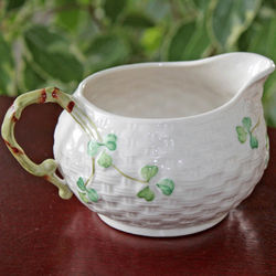 Belleek Shamrock Cream Jug