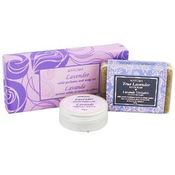 Lavender Solid Perfume and Soap Gift Set