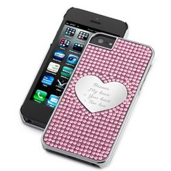 Pink Bling Heart iPhone 5 Case