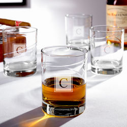 Vintage Islay Block Monogram Whiskey Glasses