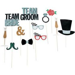 Wedding Party Photo Stick Props