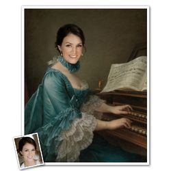 Personalized Portrait of Madame Favart Print from Photo