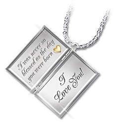 Dear Granddaughter Letter of Love Sterling Silver Locket Necklace