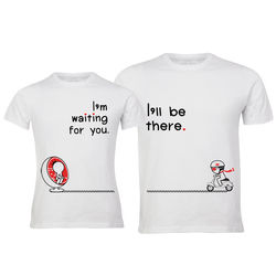 Love Is On The Way His & Hers Matching Couple Shirts