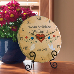 Personalized Slate Wedding Clock