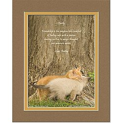 Friendship Poem Personalized Kittens Print