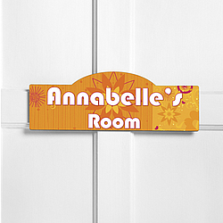Personalized Orange Blossom Kid's Room Sign