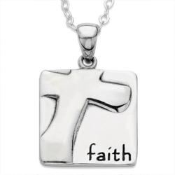 Sterling Silver Faith Cross Pendant