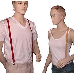 3/4 Inch Thin Glitter Skinny Suspenders