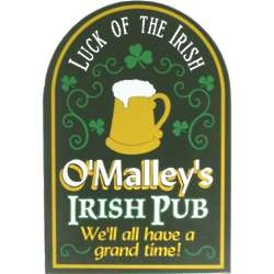 Personalized Luck of the Irish Sign