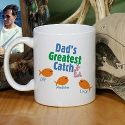 Greatest Catch Personalized Father's Day Coffee Mug