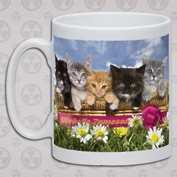Personalized Garden Cats Mug