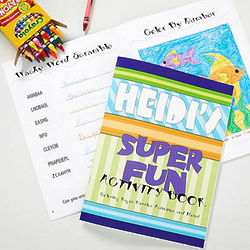 Personalized Kid's Coloring Book and Crayon Set