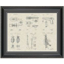 Military Equipment 20x24 Framed Patent Art