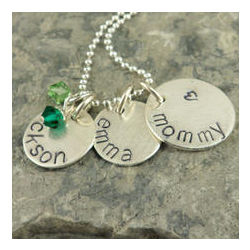 My Heart Personalized Hand Stamped Necklace