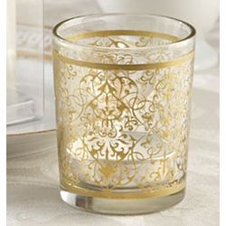 Golden Renaissance Glass Tealight Holder Favors