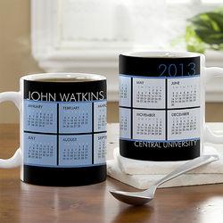 It's a Date Personalized Calendar Coffee Mug